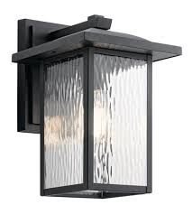 Kichler 49925BKT Capanna 1 Light 13 Inch Textured Black Outdoor Wall Light Medium