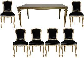 Casa Padrino Barock Luxus Esszimmer Set Schwarzgold Esstisch 6 Stühle Möbel Antik Stil Luxus Qualität Limited Edition