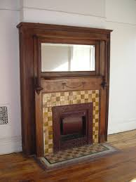 0001547 o antique fireplace mantel with mirror superb contemporary fabricated quarter sawed oak large beveled glass