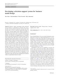 Designing Accounting Support System Pdf Developing A Decision Support System For Business Model
