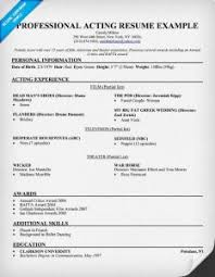 Chic Best Actor Resume Samples For Sample Of Acting Resume The 25 ...