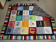 T-Shirt Quilts - good idea of how many shirts it will take. by ... & T Shirt Quilt - use scraps to make coordinating band around the edge-  really like Adamdwight.com