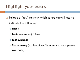 rhetorical analysis essay writing workshop highlight your essay  highlight your essay