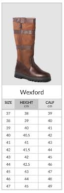 Walnut Shoes Size Chart Wexford Walnut Country Boots Dubarry Of Ireland