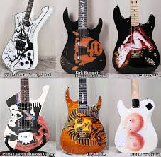 rare hand painted guitars