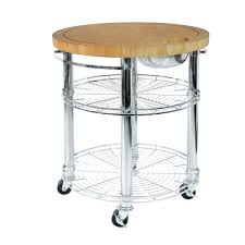 classics solid bamboo rolling butcher block top kitchen island cart in silver chrome with diy