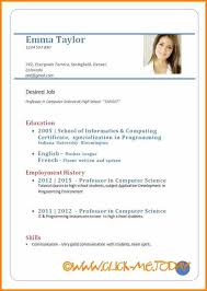 Best Resume Format Doc Sample Cv For Job Application Pdf Sample Cv
