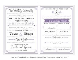 Wedding Ceremony Program Template Free Download Printable Wedding Program Templates Free Under Fontanacountryinn Com