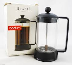 bodum brazil french press coffee maker 3 cup 0 35l 12 oz black 1543 with box