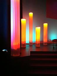 lighting design ideas. column dreamsmade from corrugated plastic stage lighting designlighting ideaschurch design ideas