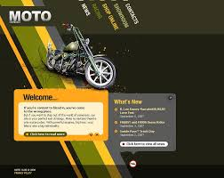 Flash Website Templates Amazing Biker Club Flash Template 48