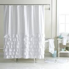 white cloth shower curtain linen extra long