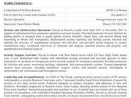 Usa Jobs Sample Resume Resume Cv Cover Letter