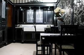 Antique Black Kitchen Cabinets Simple Inspiration Design