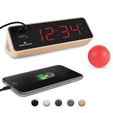 marathon gold rectangle led alarm clock
