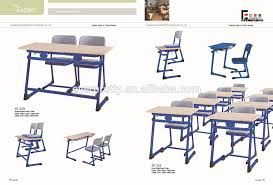 bunk student study table and chair set university school furniture china fixed single desk