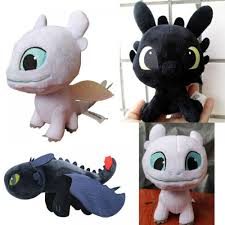 How To Train Your Dragon 3 Toothless Light Fury Plush Toys