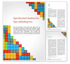 Background Templates For Word Lego Background Word Template 15287 Poweredtemplate Com