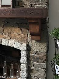 how to install a wood mantel and corbels with 3 wood s and rebar rod