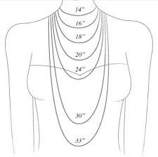 Necklace Size Chart Necklace Size Chart