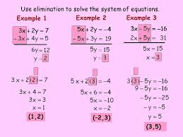 use elimination to solve the system of equations