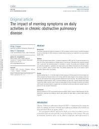 Pdf The Impact Of Morning Symptoms On Daily Activities In Chronic