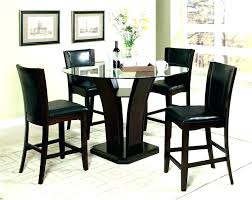 tall dining room table tall round kitchen table tall round dining black glass dining room table