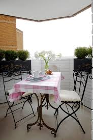 apartment balcony furniture. Apartment Balcony Furniture Table Chairs Cloth Decorative Plants Flowers Eclectic Area