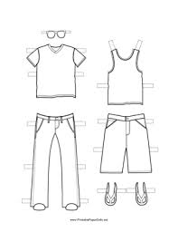 What are the hats and types of shoes. Paper Dolls To Color