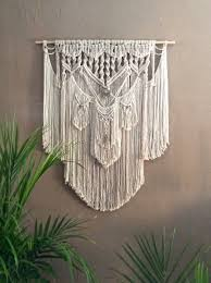 Macrame Wall Hanging Macrame Wall Hanging Natural Cotton Copper On Driftwood With