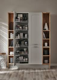 Kitchen Cupboard Interior Storage A Beautiful Bespoke Storage Unit In Our Fairford Dove Grey Kitchen