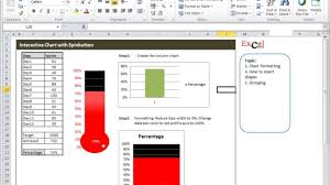 Creating A Thermometer Goal Chart In Excel Excel Tutorials Charts Thermometer Chart