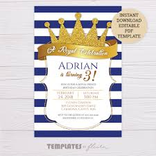 Royal Invitation Template Royal Prince Invitation Template
