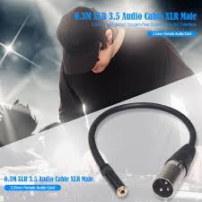 <b>0.3m XLR</b> 3.5 <b>Audio Cable XLR</b> Male to 3.5mm Female <b>Audio</b> ...