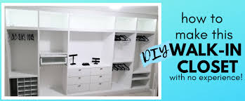 how to build a diy walk in closet