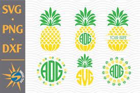 This cute pineapple monogram free svg is getting me in the mood for summer and a beach vacation! Pineapple Monogram Graphic By Svgstoreshop Creative Fabrica