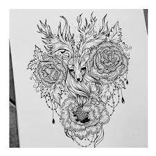 цветы черно белые тату эскизы галерея идей для татуировок фото