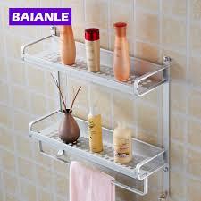 silvery wall mount layers bathroom