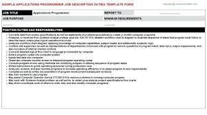 Resume For Programmer Java Developer Programmer Free Resumes A ...