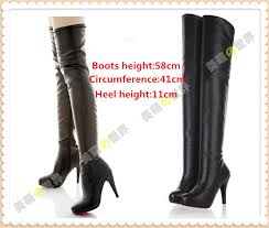 Us 33 84 6 Off Nier Automata 2b Yorha Cosplay Boots No 2 Comic Con Anime High Heel Long Black Boots Large Size In Shoes From Novelty Special Use