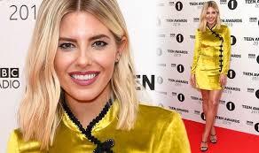 Radio 1 R B Chart Mollie King Radio 1 Dj Puts On Leggy Display In Gold Dress