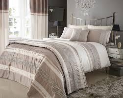 metallic detail plated double bed duvet quilt cover bedding set steffan linen co uk kitchen home