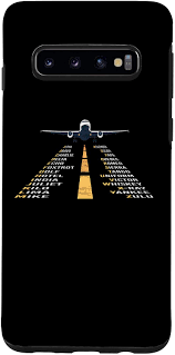 Phonetic alphabet lists with numbers and pronunciations for telephone and radio use. Amazon Com Galaxy S10 Phonetic Alphabet Pilot Cadet Airplane Case