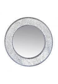 24 silver round wall mirror led glass mosaic decorative design by decors