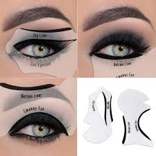 eyeliner stencil eyeshadow guide smokey cat quick eye makeup tool set amazon co uk beauty