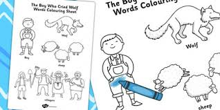 Small Picture Elegant The Boy Who Cried Wolf Coloring Pages 35 For Your Coloring