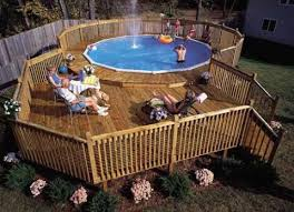 above ground pool with deck. Contemporary Above Image Intended Above Ground Pool With Deck O