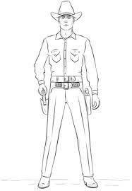 Cowboy Coloring Page Free Printable Coloring Pages