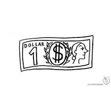 Disegno Di Dollaro Da Colorare Per Bambini Disegnidacolorareonlinecom