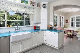 spanish mid century modern transitional kitchen